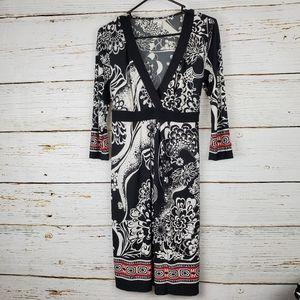 Liz Lange Maternity Black and White Print Dress